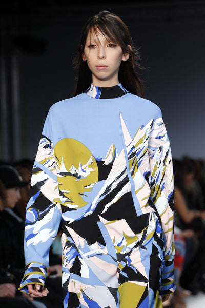 PANEL- Pucci Alpine Print on Silk Blend Crepe Jersey