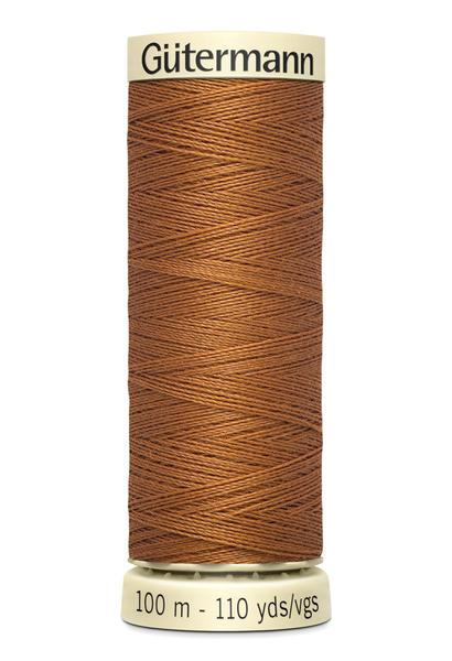 Gütermann Sew All Thread 100m - Orange, Yellow, Cream & Browns