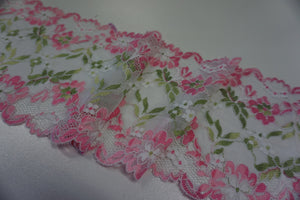 Stretch Lace Trim, Pink