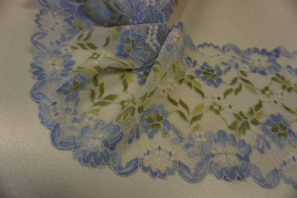 Stretch Lace Trim, Blue