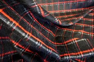 Black Check Mohair Coating