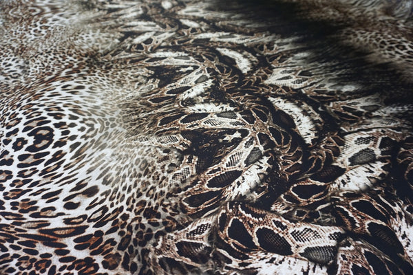 Wild at Heart Print Silk Satin