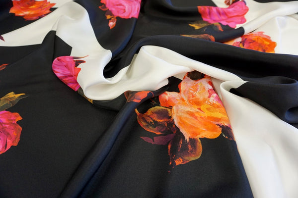 All My Roses Print on Silk Twill