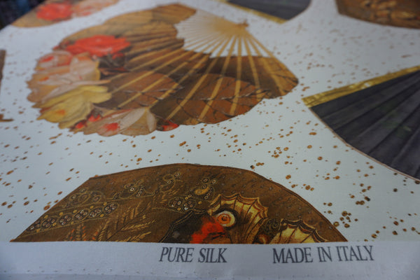 Biggest Fan Print on Silk Satin