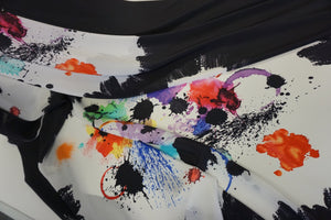 PANEL- Splatter Paint on Crepe de Chine