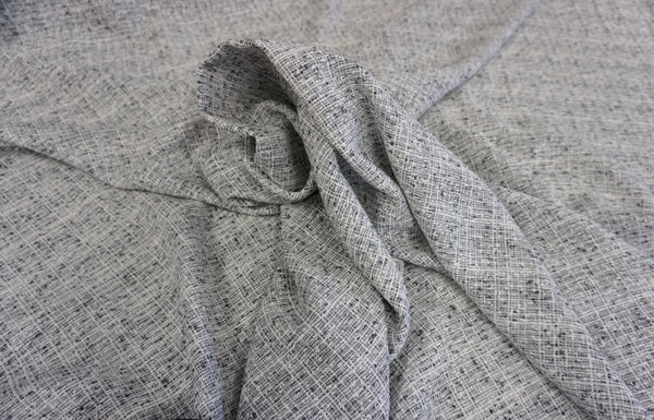 Grey Linen Blend Tweed Suiting