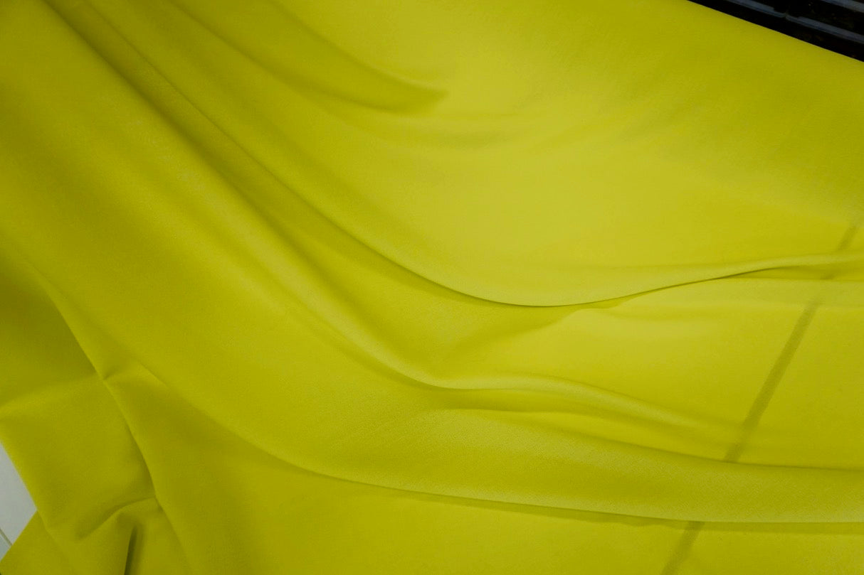 Chartreuse Yellow Wool Crepe