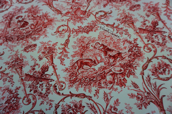 Red Ink Folklore Print on Stretch Pique