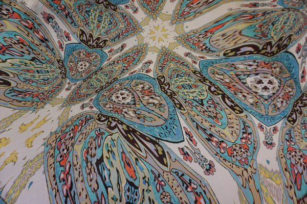 Melting Mandalas Print on Silk Habutai
