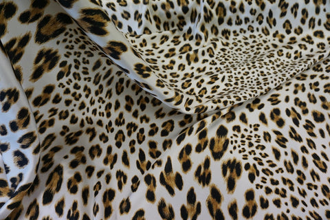 Leopard Print on Silk Satin