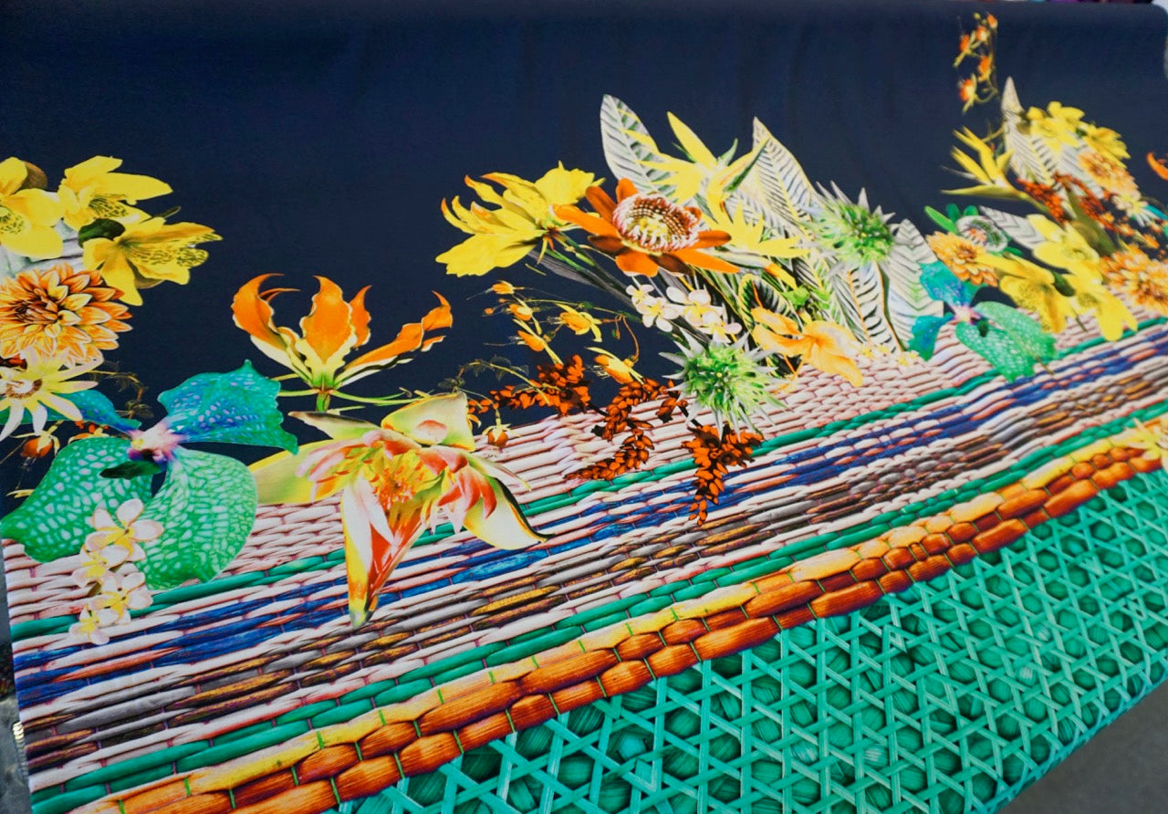 PANEL- Tropical Bouquet Jersey