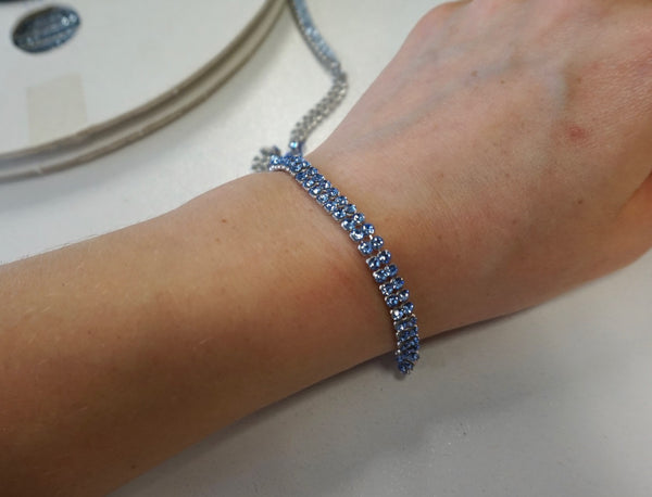 Swarovski Crystal Trim, Double Row Baby Blue