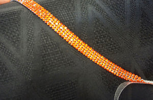 Swarovski Crystal Trim, Four Row Bright Red