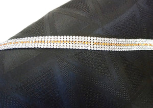 Five Row Swarovski Crystal Trim, Orange Centre