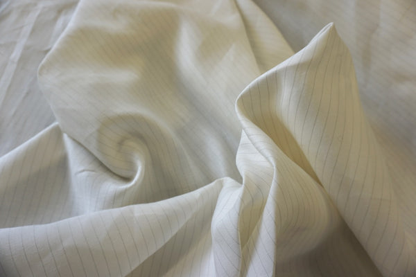 Twill Pinstripe Natural Linen Blend