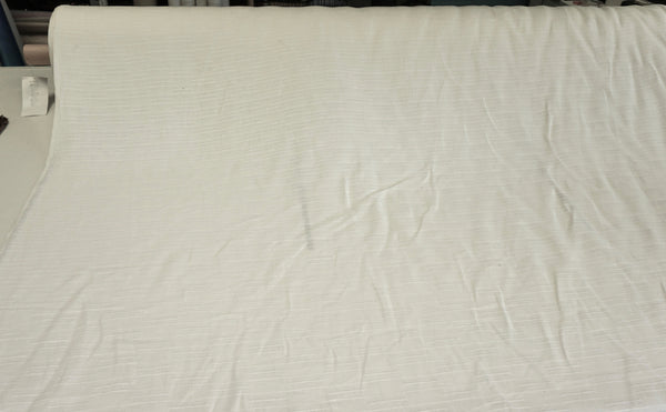 Dashed Lines Linen Jacquard, Natural White