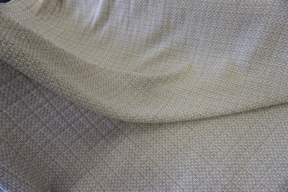 Natural Beige Check Tweed