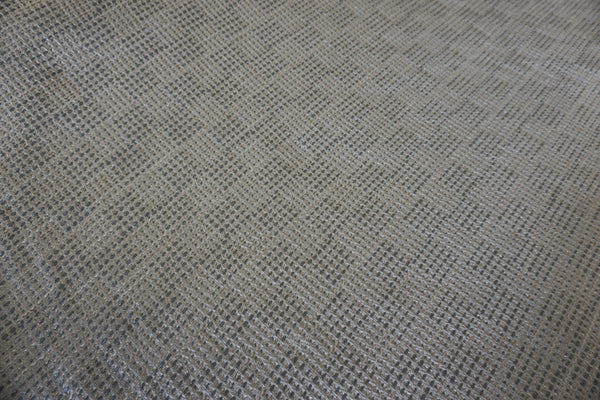 Pearl & Silver Cubed Tweed Suiting