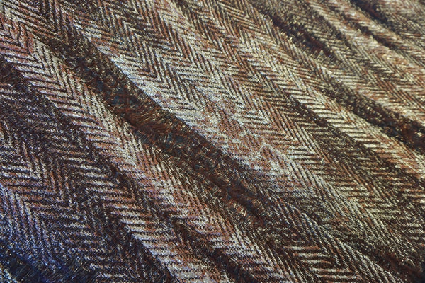 Bronze and Gold Italian Herringbone Brocade