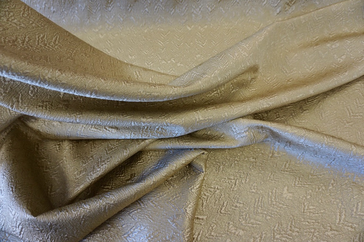 Silk Wool Blend Gold Jacquard Suiting
