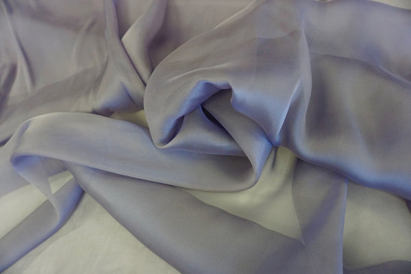 Plain Silk Chiffon, Lavender Purple