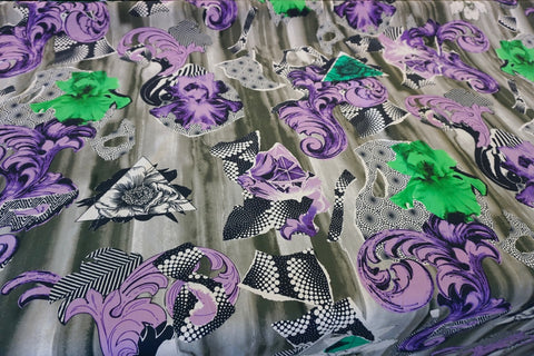 Baroque Bermuda Print on Superfine Poplin