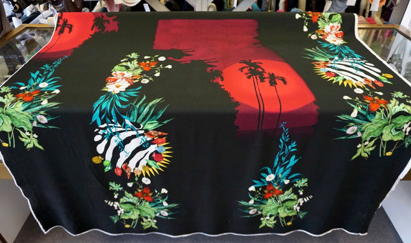 PANEL- Tropical Sunset Print on Stretch Jersey