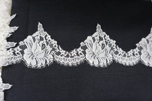 Scalloped Ivory French Lace Trim