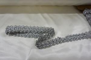 Silver Threaded Cord Trim Braid