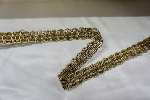 Gold Metal Thread Trim Braid