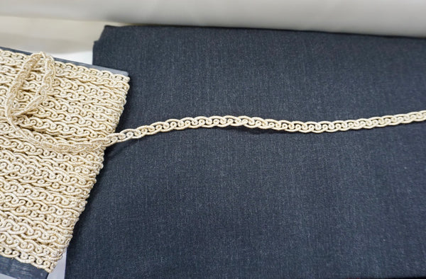Gold Lurex Corded Braid Trim