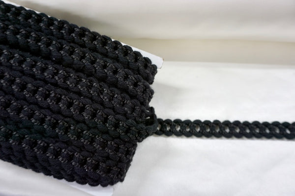 Black Chain Braid Trim
