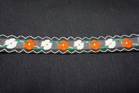 Embroidered Mesh Trim