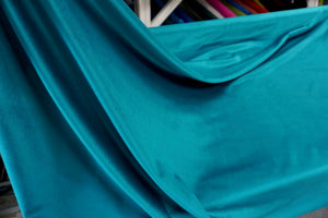 Deep Teal Cotton Velvet