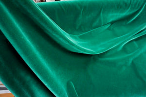 Emerald Green Cotton Velvet