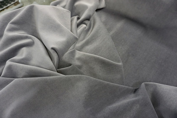 Light Grey Cotton Velvet