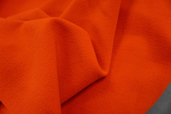 Double Cloth Stretch Wool Crepe, Blood Orange