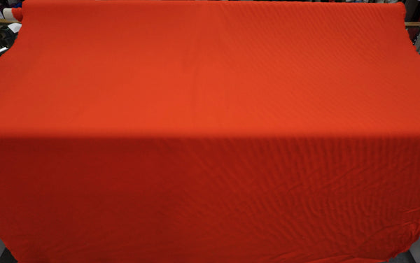 Classic Red Stretch Wool Gabardine