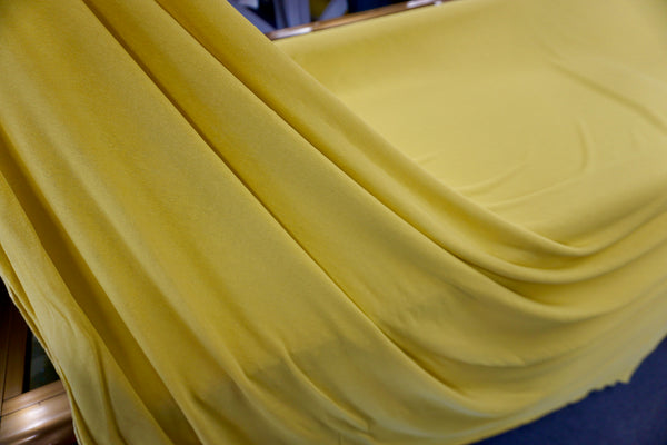 Self Lined Crepe Jersey, Yellow Zest