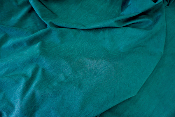 Crushed Stretch Jersey in Emerald Teal
