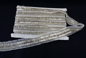 Beaded Trim, With Silver Spike Beads