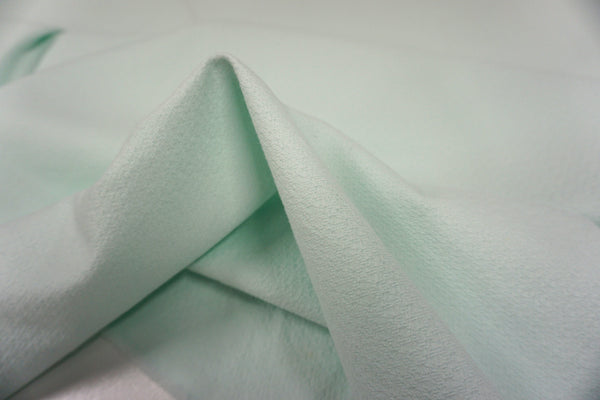 Textured Stretch Cotton, Lightest Seafoam Green