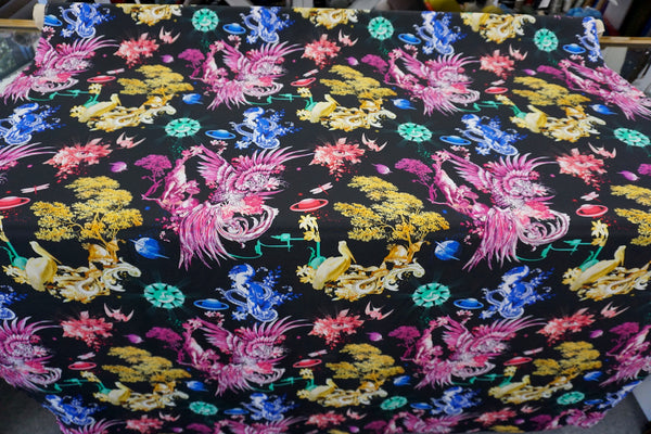 Dreaming of Surrealism Print on Crepe de Chine