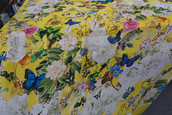 PANEL- Summer Wonderland Print on Satin Chiffon