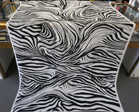 PANEL- Zebra Print on Satin Backed Silk Crepe