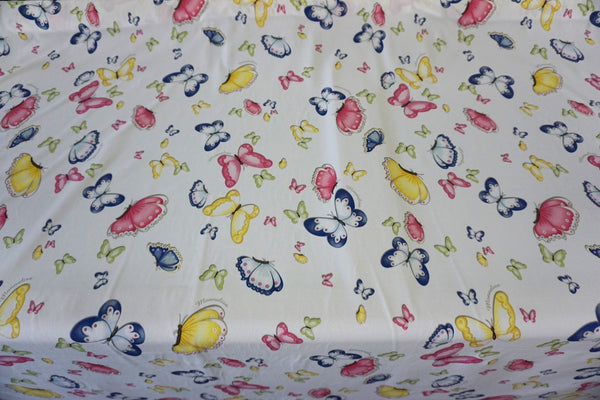 Butterfly's Dream Print on Cotton Jersey, White