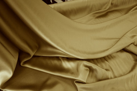 Heavy Crepe back Satin, Old Gold
