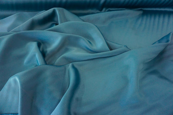 Wool Blend Crepe back Satin, Dark Teal