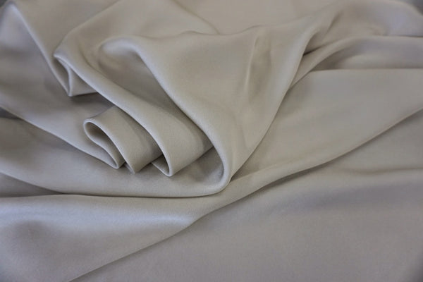Crepe back Satin, Oyster Grey