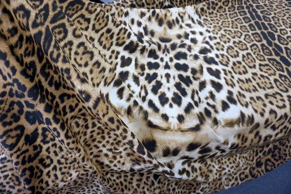 PANEL: Leopard Skin Print on Cotton Poplin